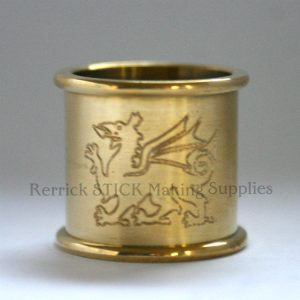 Beaded Brass Collar With Dragon Engraved 25mm