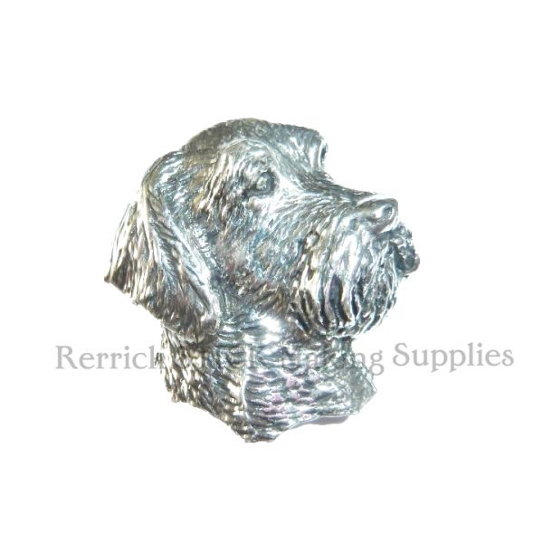Pin Badge Pewter Wired Haired Terrier