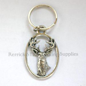 Keyring Pewter White Tailed Deer