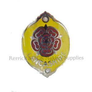 Walking Stick Badge - Lancashire Rose ( Yellow Back )