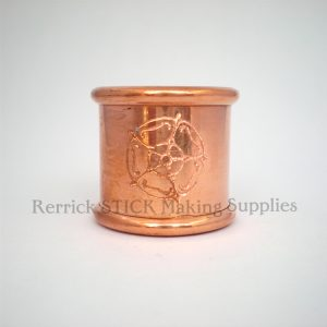 Beaded Copper Collar 23mm Rose Engraved