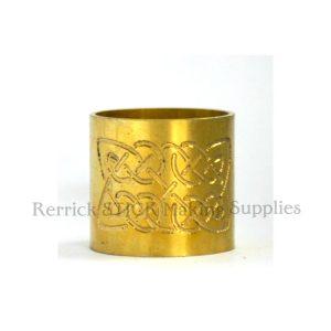 Plain Brass Collar Celtic Knott Engraved
