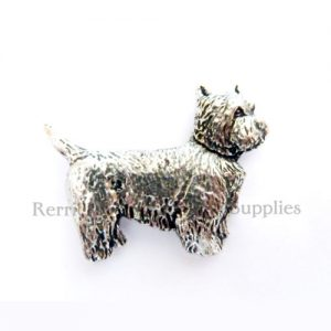 Pin Badge Pewter West Highland Terrier