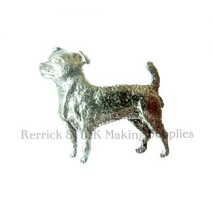 Pin Badge Pewter Large Jack Russell