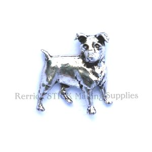 Pin Badge Pewter Jack Russell