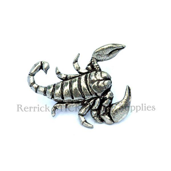 Pin Badge Pewter Scorpion