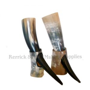 One Viking Drinking Horn & Stand