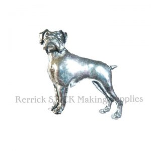 Pin Badge Pewter Boxer