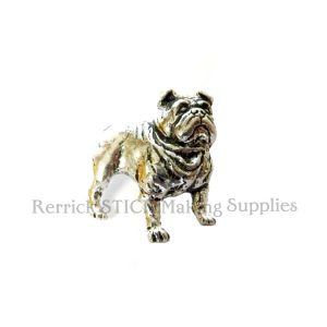 Pin Badge Pewter English Bulldog
