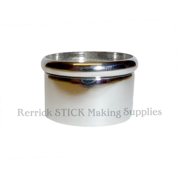 Nickel Snap Top Collar For Walking Sticks 24mm