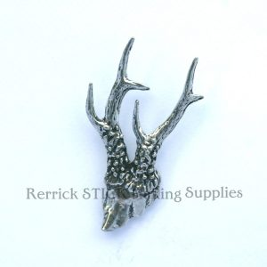 Pin Badge Pewter Roe Horn