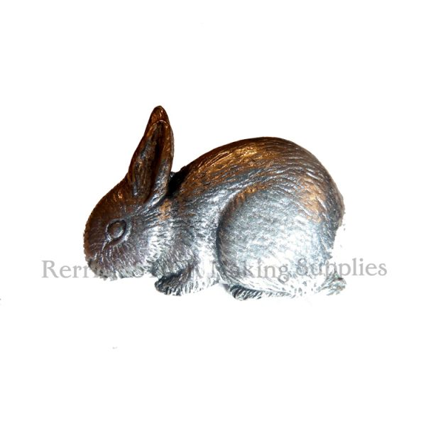 Pin Badge Pewter Rabbit Eating