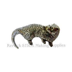 Pin Badge Pewter Otter