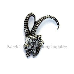 Pin Badge Pewter Ibex