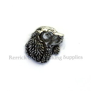 Pin Badge Pewter Spaniel Head