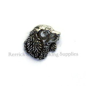 Pin Badge Pewter Spaniel Head