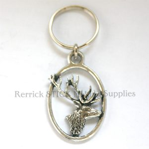 Keyring Pewter Stags Head