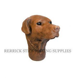 Chocolate Labrador Cast Resin Head
