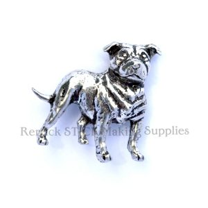 Pin Badge Pewter Staffordshire Bull Terrier
