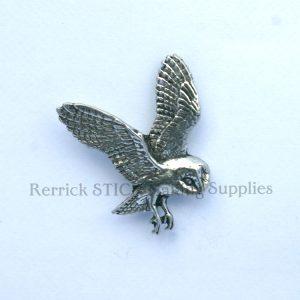 Pin Badge Pewter Owl