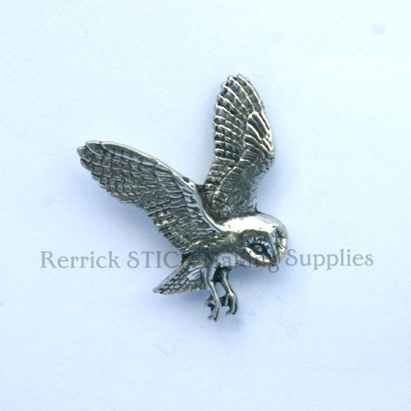 Pin Badge Pewter Owl
