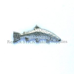 Pin Badge Pewter Rainbow Trout