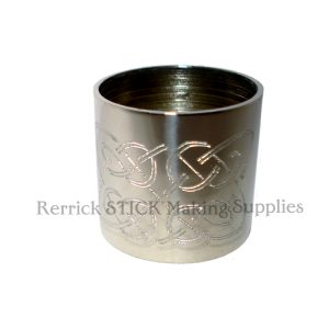 Plain Nickle Silver Collar With Celtic Knott Engraved