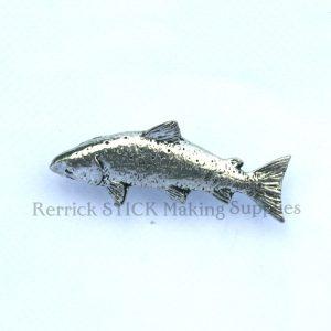 Pin Badge Pewter Salmon