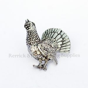 Pin Badge Pewter Capercaillie