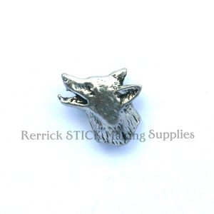 Pin Badge Pewter Fox Head Small