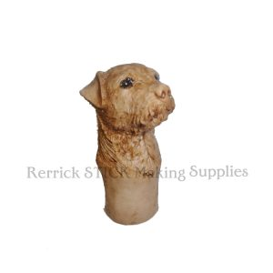 Small Border Terrier Cast Resin Head