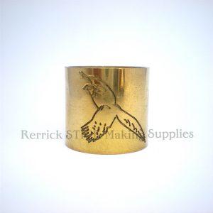 Plain Brass Collar Pheasant Engraved