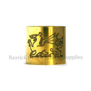 Plain Brass Collar Welsh Dragon Engraved