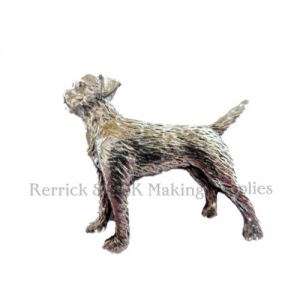 Pin Badge Pewter Border Terrier