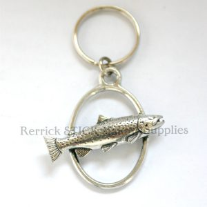 Keyring Pewter Brown Trout