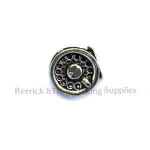 Pin Badge Pewter Fly Reel