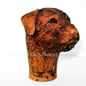 Border Terrier Cast Resin Head