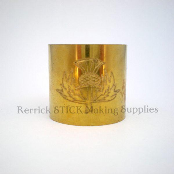 Plain Brass Collar Scottish Thistle Engraved