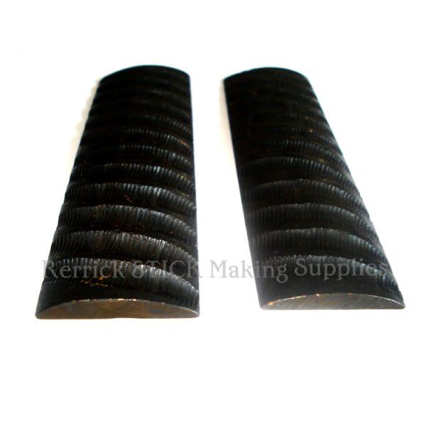 Knife Scales From Camel Bone / Springbok ( Black )