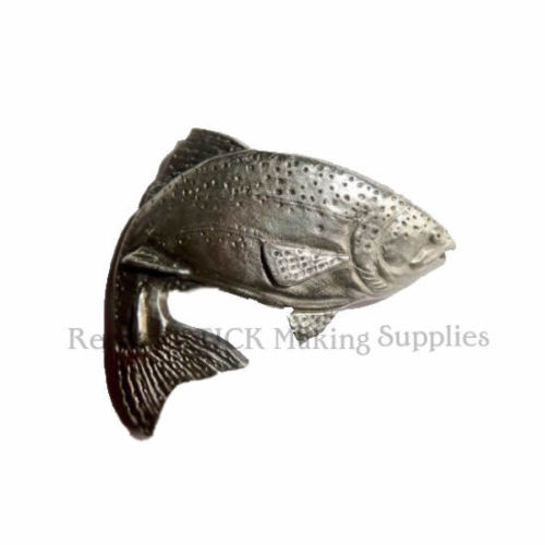 Trout Pewter Medallion Stick Mount