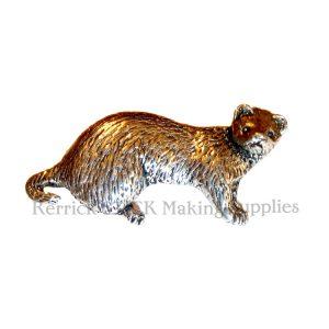 Pin Badge Pewter Ferret