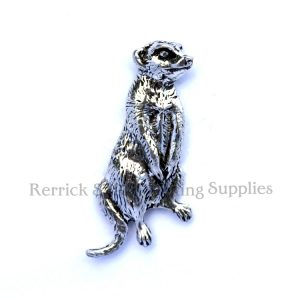 Pin Badge Pewter Meerkat