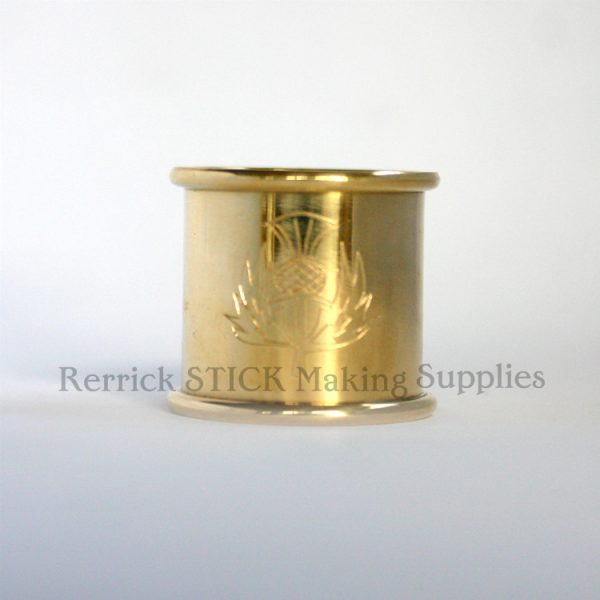 Beaded Brass Collars 25mm With Thistle Engraved