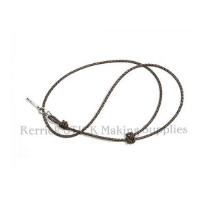 Lanyard Made From Black Braided Leather No 405