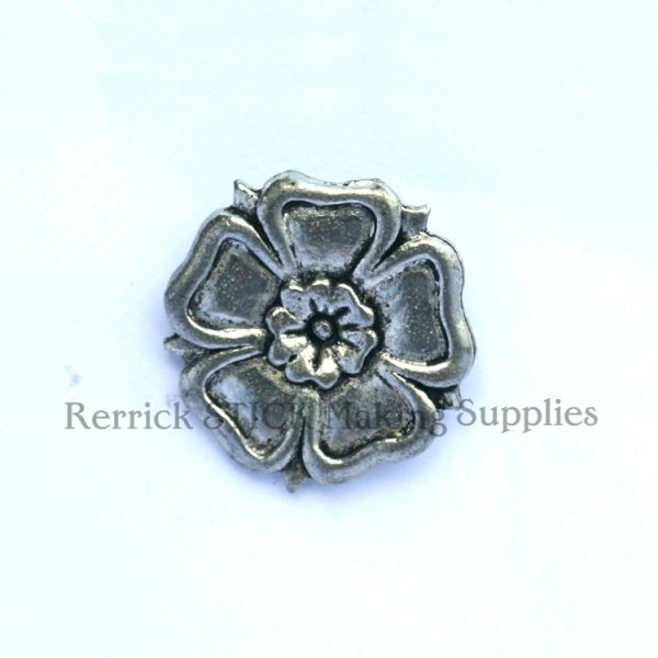 Pin Badge Pewter English Rose