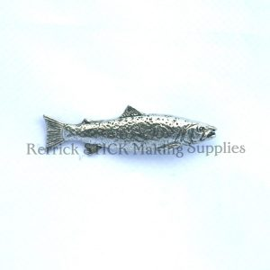 Pin Badge Pewter Brown Trout