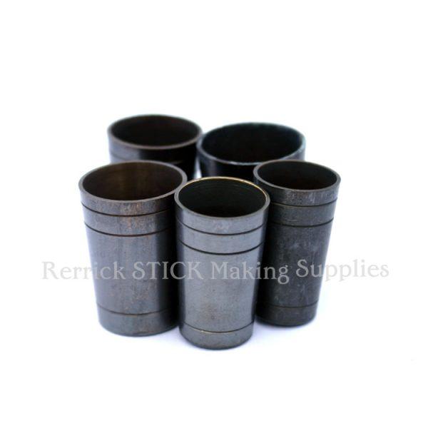 5 Walking Stick Ferrules Brass Ultra 20.5 - 25mm