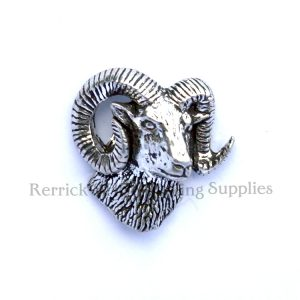 Pin Badge Pewter Rams Head