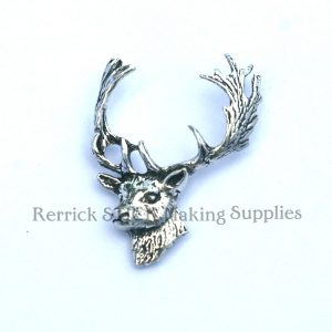 Pin Badge Pewter Stag Large