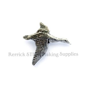 Pin Badge Pewter Duck in Flight